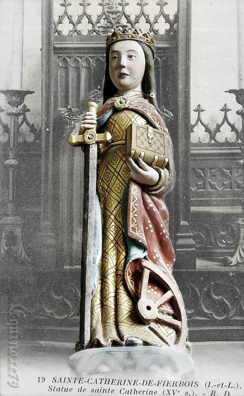 Reliques saintes Catherine d'Alexandrie de fierbois