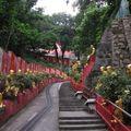90- escalier qui mène au temple des 10 milles bouddhas