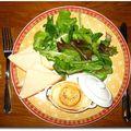 Miam! la salade au chèvre chaud de mr samarie