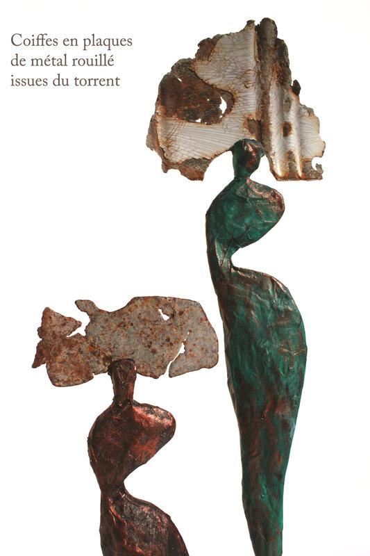 2sculptures_papier_bronze_coiffe_metal_z_vanessarenoux2018