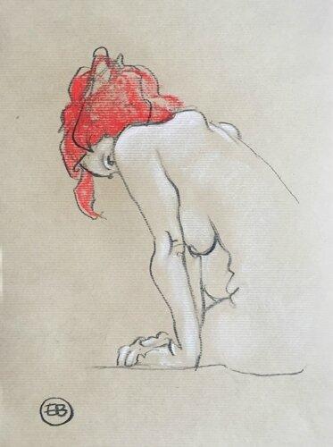 #croquisdenu modele vivant living model Etienne Bonnet Croquis nu dessin peinture Golden Blog Awards nude drawing sketch B IMG_1955