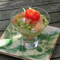 Verrine avocat saumon pamplemousse