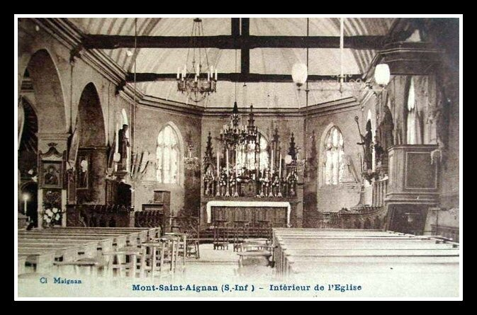 mont-saint-aignan intérieur église