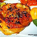Rolls feuilletés au confit de ratatouille, au beaufort + graines de sésame noir et garam massala