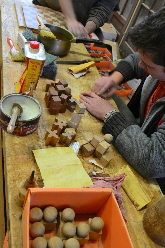 étude de fabrication du jeux d'échecs , école du Bauhaus