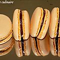 Macarons chocolat lait passion