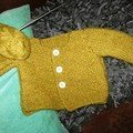 Cardigan au point mousse pour bébé