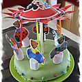Gâteau d'enfant en forme de manège