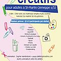 Affiche et flyers pour les ateliers créatifs à saint-martin