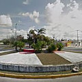Rond-point à cancun (mexique)