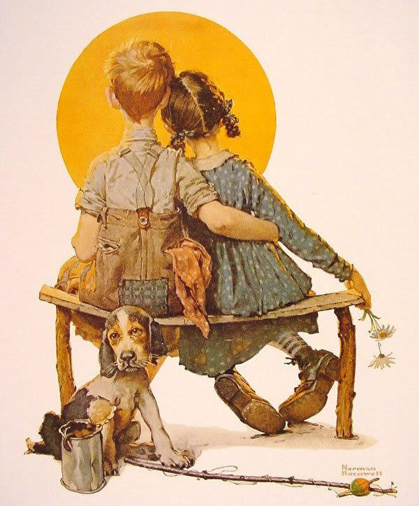 puppy love norman rockwell