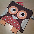 porte_monnaie_hibou_marron_orange_blanc