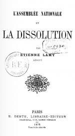 Étienne Lamy La Dissolution couv