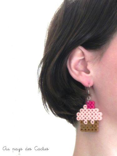 B.O. cupcake perles à repasser Au pays des Cactus