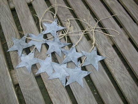 Etiquette étoile en zinc (2)