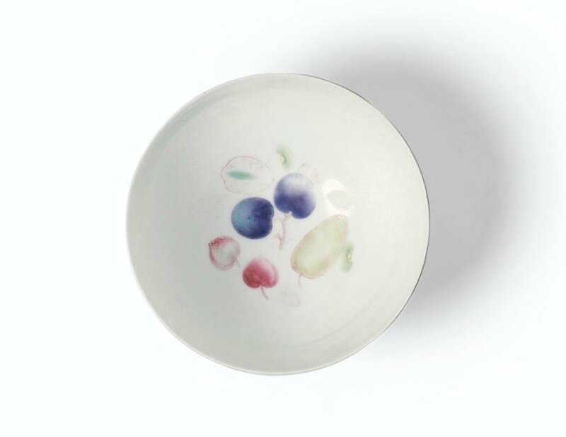 A rare small famille-rose and pink-enamelled bowl