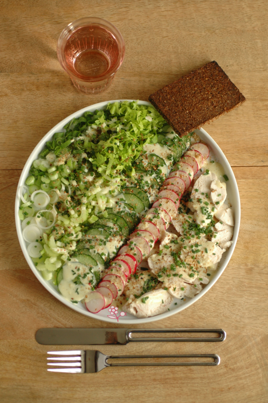 Verdures, radis & poulet_2