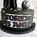 Gâteau star wars dark vador - star wars darth vader cake