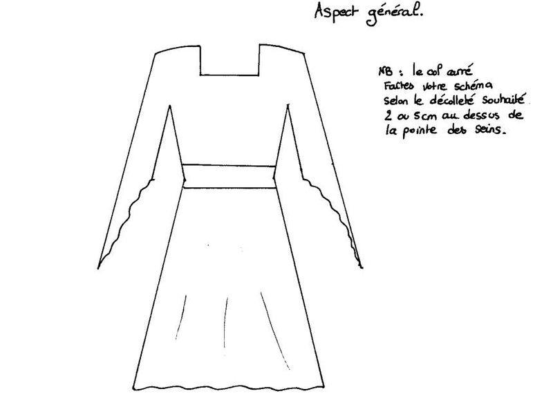 Realiser Une Robe Medievale Niveau Facile La Caverne Des Fees
