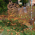 Banc forgé en forme de papillon (Courson oct. 2010)