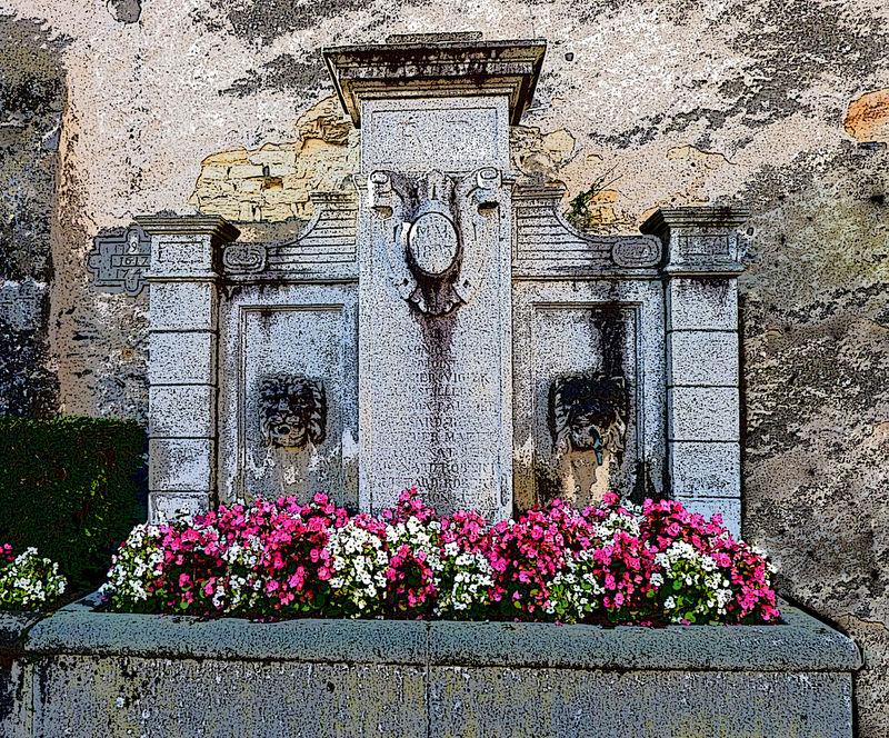 fontaine d'apparat à Mirefleurs