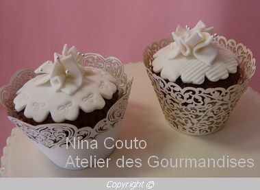 cupcakes d co ivoire en p te sucre atelier des gourmandises. Black Bedroom Furniture Sets. Home Design Ideas