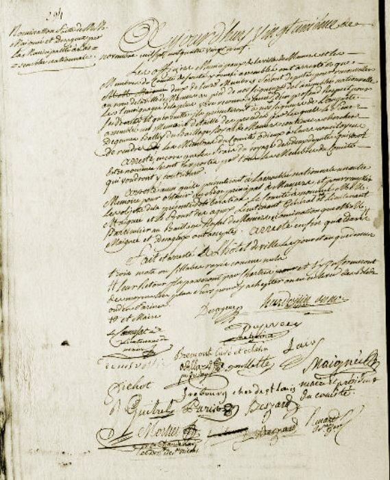 Le 21 novembre 1789 à Mamers : Affaire Grou ( suite ).