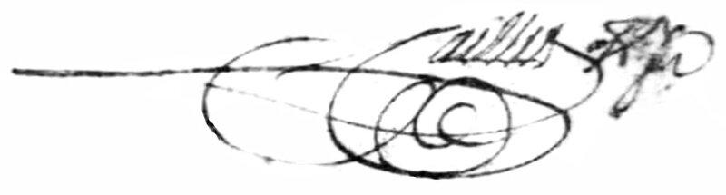 Signature de Jean Caillet