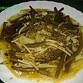 Petits spaghetti au pesto, haricots verts et pommes de terre