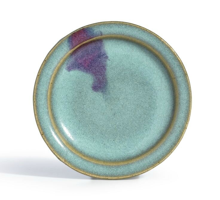 A purple-splashed 'Junyao' dish, Song-Yuan dynasty