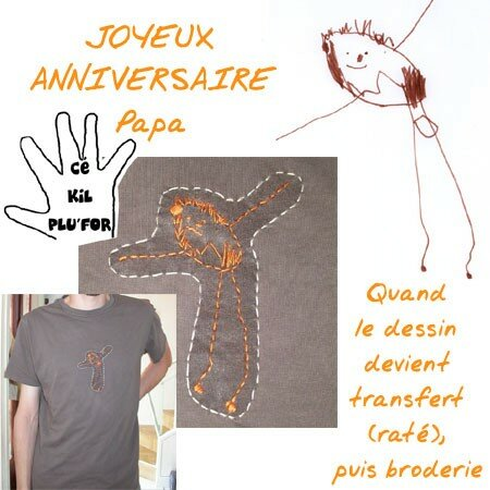 T-shirt customisé par Titefée (avec un peu d'aide...)