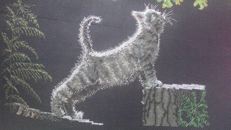 max's moon crossstitch cat