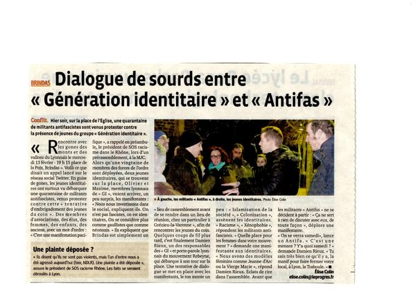 manif anti fasciste du 13 fevr 2013 article du 14 fevrier