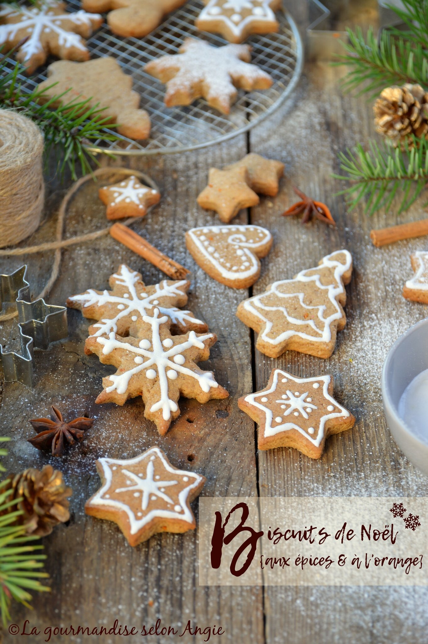 Biscuits à l\u0027orange \u0026 aux épices Noël vegan , La