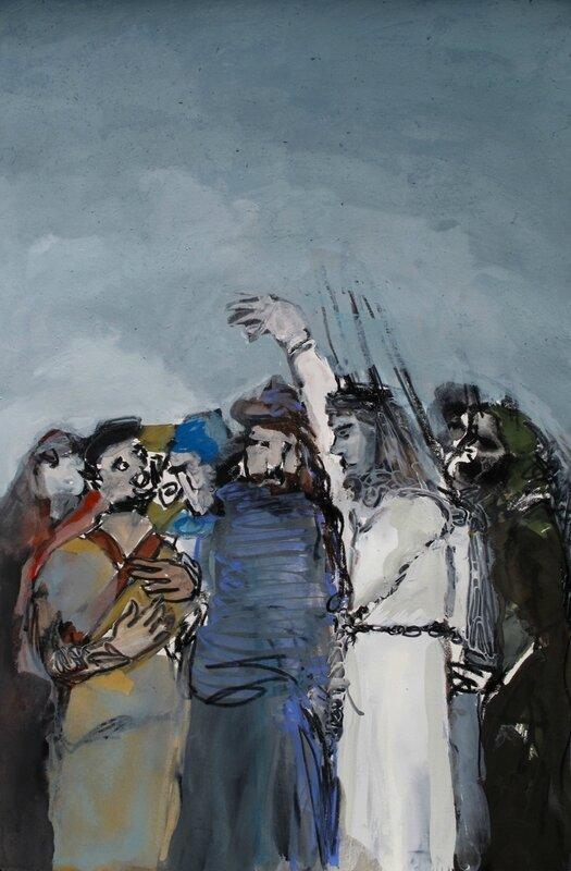 Station 2 - La trahison de Judas et l'arrestation de Jésus, (60x40cm)