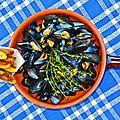 Moules marinières et frites maison