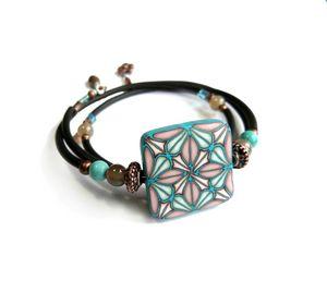 bracelet geomTurquoise 1