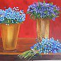 Bouquets bleus