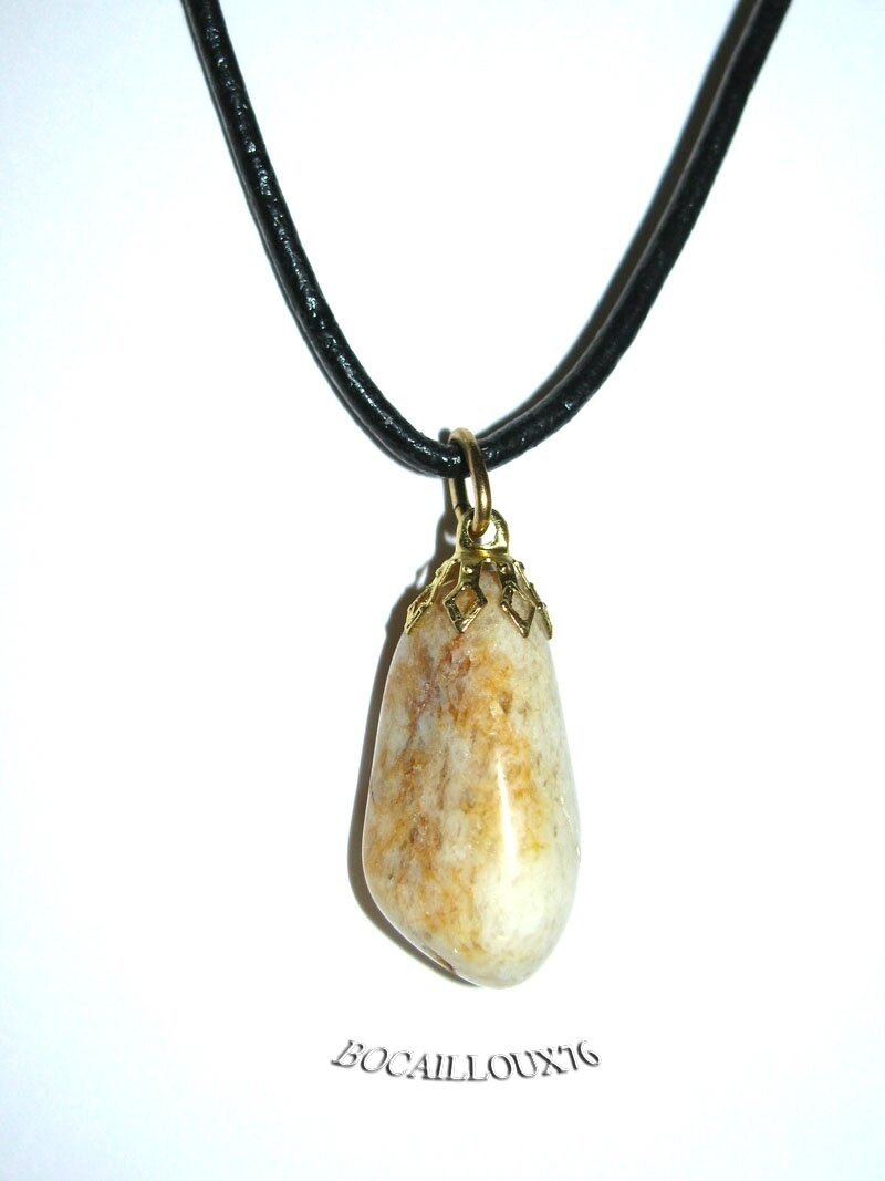 PENDENTIF QUARTZ 3 - Attache DOREE