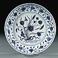 Ming dynasty blue and white porcelains sold at christie's london, 16 november 1998