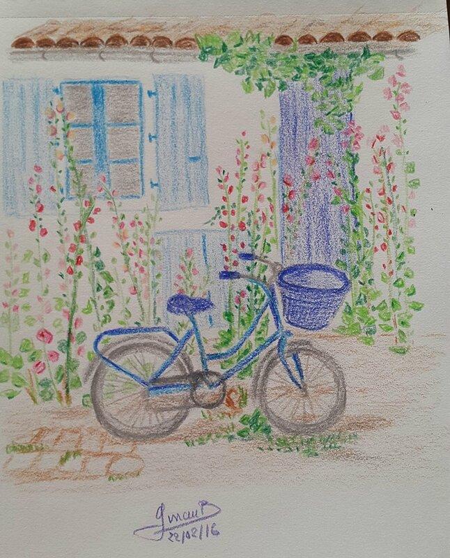 la bicyclette Bleu