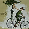 illustration j'aime bien cette façon de faire du vélo