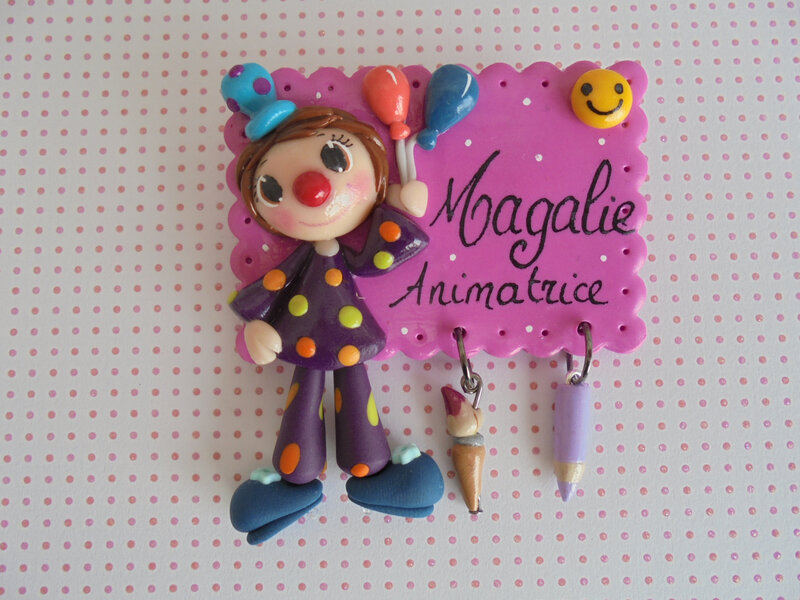 badge clown magalie