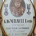 Gagnerault alexandre (crozon sur vauvre) + 06/08/1916 thiaumont (55)
