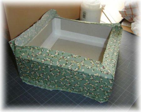 boite entourée de tissu