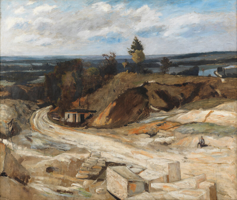 Carl Fredrik Hill, Stonequarry by the River Oise II,