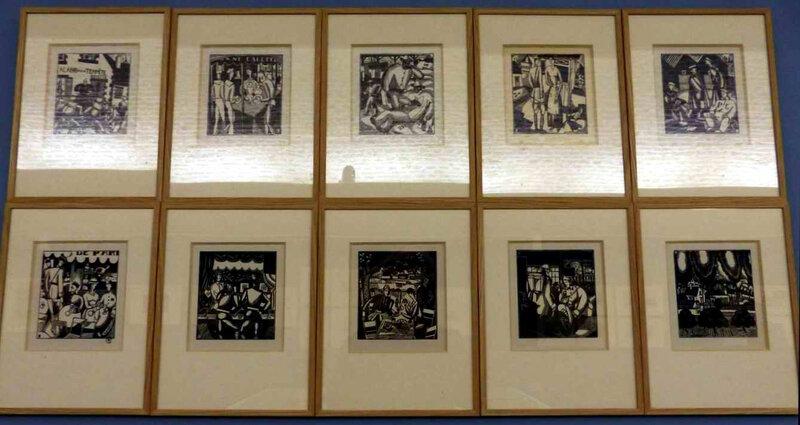 Oeuvres Laboureur 1918 images de l arrière gravures sur bois
