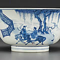 A well-painted blue and white bowl, kangxi period (1662-1722)