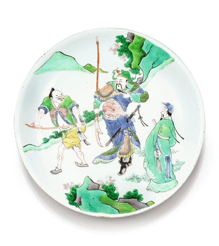 Assiette en porcelaine de la Famille Verte Dynastie Qing, époque Kangxi