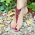 Bijou de pied macramé / bracelet cheville gipsy boheme